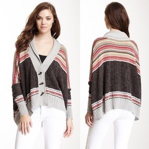 AUTUMN CASHMERE Oversized Fair Isle Cardigan \\ M